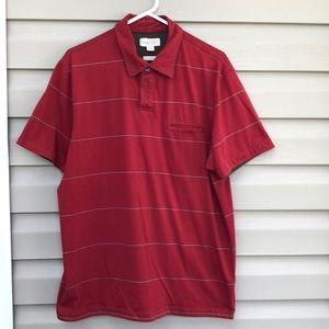 Banana Republic men's red striped polo shirt